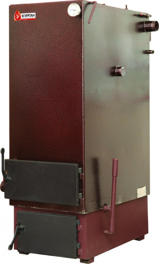 Отопительный котел для длительного сжигания твердого топлива (угля)