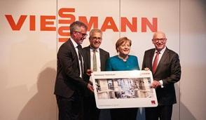 Ангела Меркель на открытии нового научно-исследовательский центра Viessmann